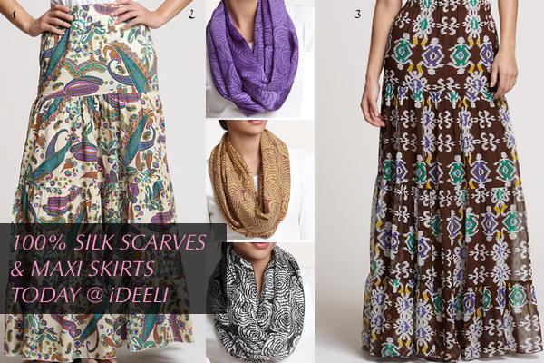 Designer Hijab Style : Silk Hijabs and Long Skirts - We Love Hijab ...
