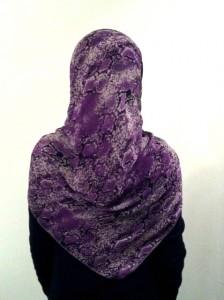 Purple Python Hijab Style - Back
